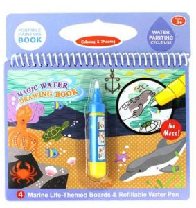 Reusable Educational Painting Magical Water Coloring Kids Book With Refill Pen Drawing Writing Doodle Board In The Fish Them