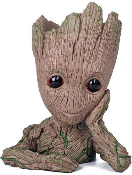 Baby Groot Flowerpot, Groot Action Figures Guardians of The Galaxy Flowerpot Baby Cute Model Toy Pen Pot Best Gifts 6.3inch