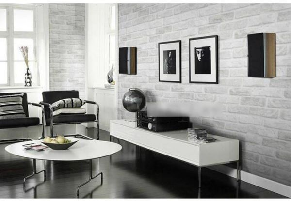 3d Concave Three Dimensional Chinese Gray Brick Wallpaper Hotel