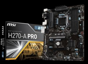 MSI H270-A PRO Mining Motherboard Crytocurrency BTC Intel H270/ ATX  Motherboardwith 6 PCIe Slots and M 2