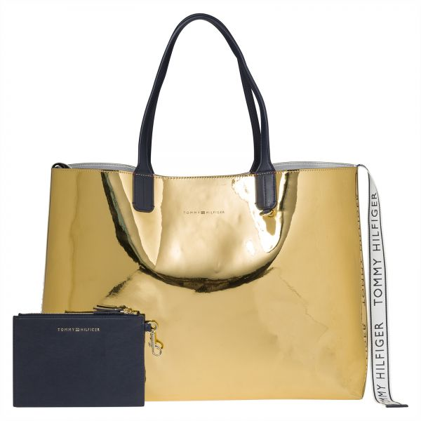 Tommy Hilfiger Tote Bag For Women Gold