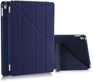 Magnetic Folio Leather Smart Stand Case Cover for Apple iPad Mini 4 7.9 Inch Dark Blue