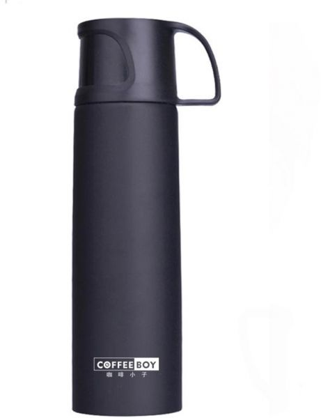 Coffee Boy Thermos Bottle 500ml Stainless Steel Vacuum Flasks Thermoses Straight Cup Thermo Mug For Tea Women Termos Thermocup