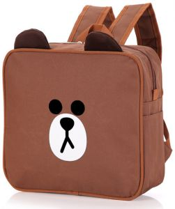 Cartoon children s school bag Brown Bear backpack Korean fashion cute super cute  square custom backpack-xsq 1e65cf4d6815b