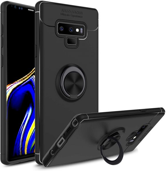 size 40 94734 9102b Galaxy Note 9 Case, 360 Degree Rotatable Ring Stand and Ring Holder  Kickstand Fit Magnetic Car Mount Slim Soft Protective Case -black