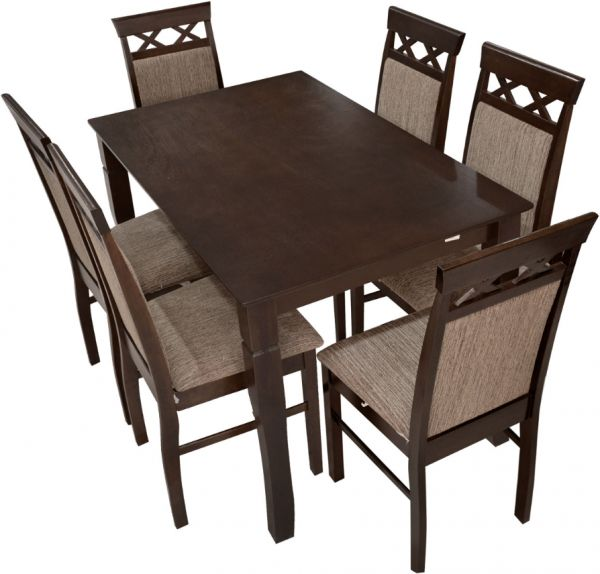 Malaysian Wooden Dining Table With 6 Chairs