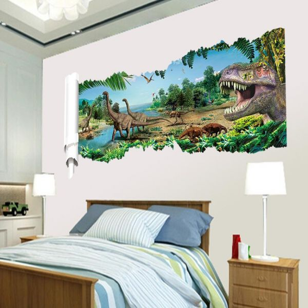 dinosaur children's room bedroom wall sticker | souq - uae