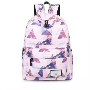 Korean College Style Campus Junior High School Student Bag College Student Wild Large Capacity Backpack Leisure travel canvas bag Fashion trend landscape ...