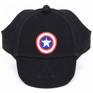 d7e5c5d7976 Captain America Summer Canvas Pet Dog Hats for Small Size Dogs Visor Design  Fashion Dogs Sun Hats Sport Cap with Ear Holes and Chin Strap