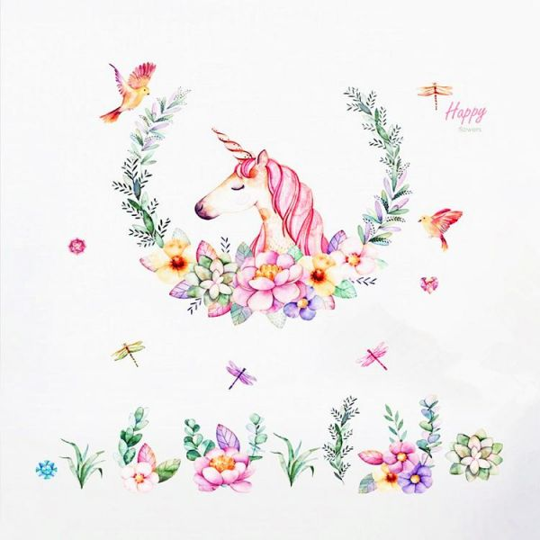The Unicorn Animal Of Wall Sticker Stickers For Childrens Room Home Decoration Art Wallpaper Kids Rooms Bedroom Decor Living Colorful