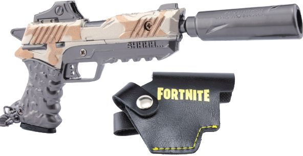Game Fortnite Key Chain Suppressed Pistol Toy Model Key Chain Model