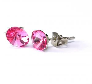 d5f266be2 Earring Oval Rivolo 6x8mm Rose Made in Italy No Lead FREE of toxic or  carcinogenic substances and Nickel tested