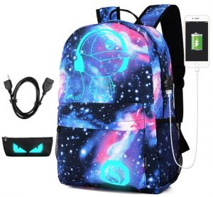 Anti-thief Bag Luminous School Bags For Boys Student Backpack 15-17 inches  Mochila with USB Charging Port Lock Schoolbag Fashion Travel School Bags  with c34e603f45ec1