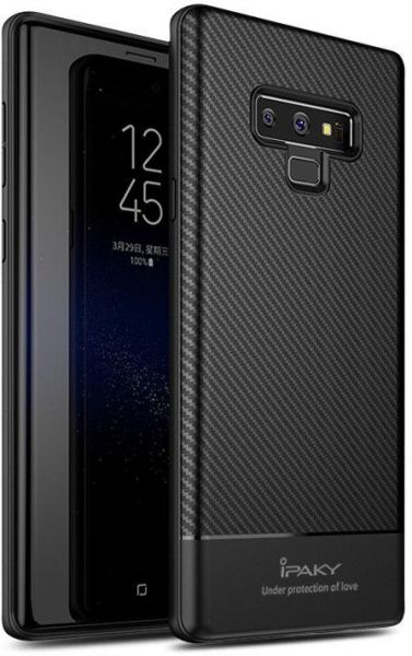 online store a81d8 35b8b Samsung Galaxy Note 9 iPaky Carbon Fiber Soft Silicone Case Cover - Black