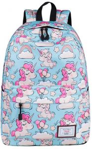 ade8b8dafd9f Backpack Unicorn Animals Waterproof Backpack Travel Double Bag 3D Printing  Shopping for Teenage Student School Shoulder Bag Girls and Women 16inch  Canvas ...