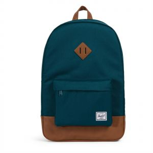 Herschel 10007-02108-OS Heritage Unisex Casual Daypacks Backpack - Deep  Teal Tan Synthetic Leather de9d0d5ff9b7a