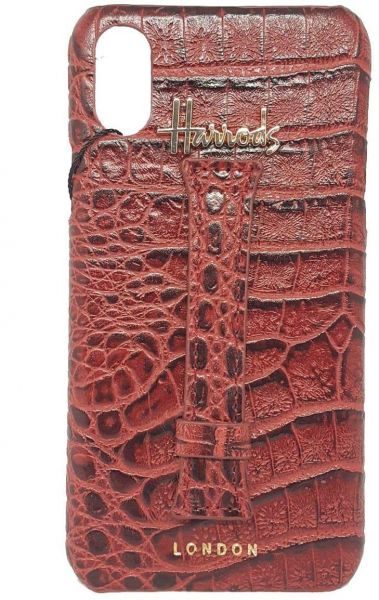 8678c94ab iphone x leather harrods london case&cover with finger grip Red ...