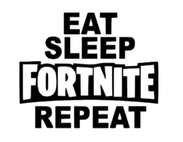 game fornite words wall sticker eat sleep fortnite repeat bedroom