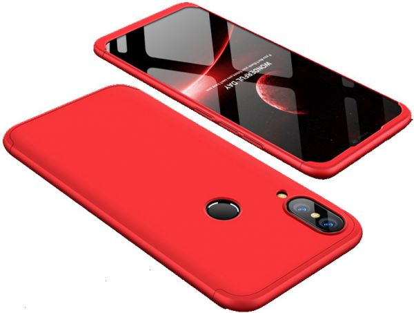 brand new b6573 00112 Xiaomi Mi S2 case 360 Degree 2 pieces Silicon products front And back With  Out Screen - Red