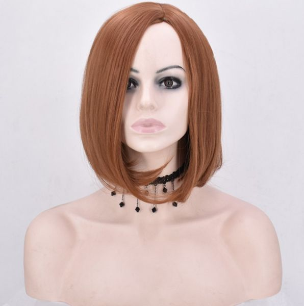 Souq Short Straight Hair Synthetic Bob Wig Heat Resistant For