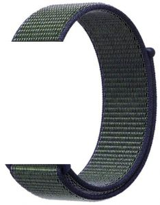 Woven Nylon Apple Watch Sport Loop band 38MM-Midnight fog ee1876a392c