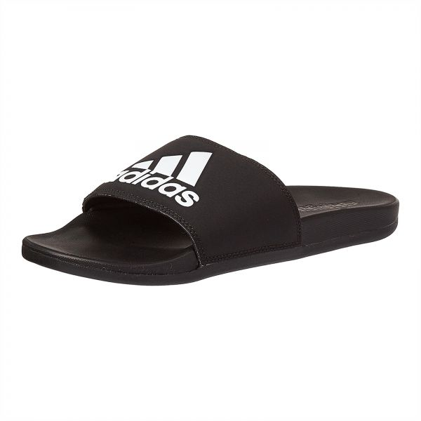 34cef97cb9573 adidas Adilette Cloudfoam Plus Logo Slides for Men