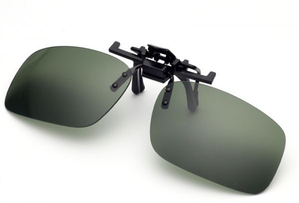 a0e712bdbd9 Unisex Polarized Clip On Sunglasses Near-Sighted Driving Night Vision Lens  Anti-UVA Anti-UVB Cycling Riding Sunglasses Clip