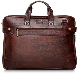 The Clownfish Dual Tone Maroon Black Leather Tablet Bag And Laptop For Upto 15 6 Inches Screen