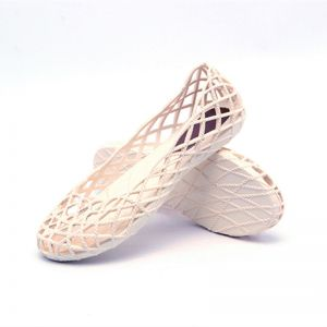 96466a5471c3 Women Summer Casual Beach Flat Sandals Net Shoes Woman Hollow Out Slip-On  Comfy Summer Shoes-White
