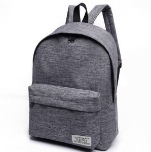 6ba9a57f363 Bacisco Canvas School Backpack Women Men Large Capacity Laptop Backpack  Student School Bags for Teenagers Travel Backpacks