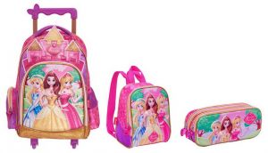 378ad5f8e00e 3D Princess School Trolley Bag for 3 - 12 Ages Kids