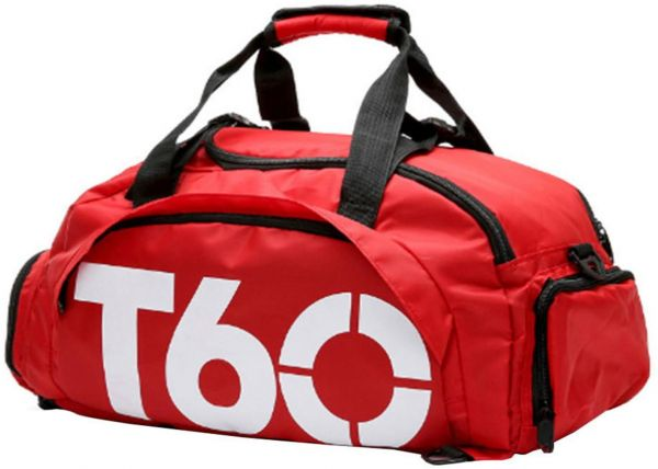 9040a62ee2 Travel Duffel Bag Fashion Folding Sports Bag Convertible Gym Bag Water  Resistant 3 Ways Carry With Shoes Rack Red Middle
