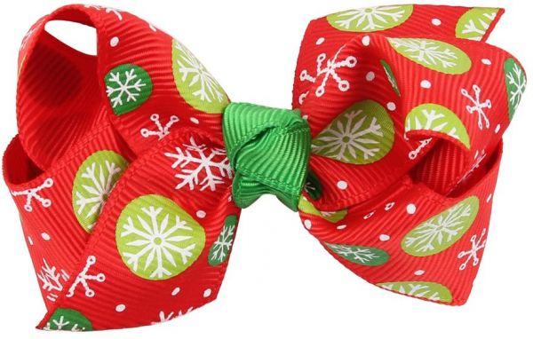 Christmas Hair Bows For Toddlers.Boutique Christmas Hair Bows 3inch 8cm Hair Bows Clips For Baby Girls Teens Toddlers Gift