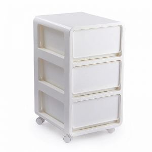 Three Tiered Drawer Organizer Storage Cabinet Removable Clothes Box Bathroom Kitchen Bedroom