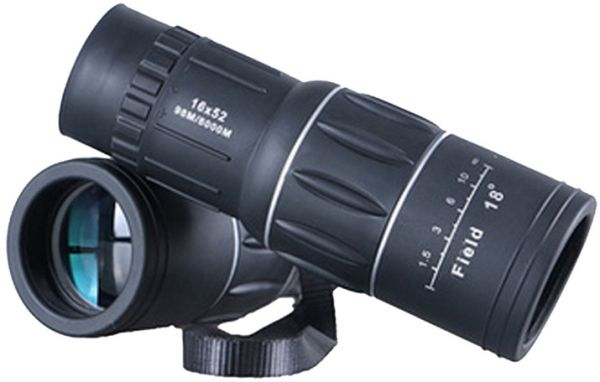 Dual focus zoom optic lens armoring monocular telescope