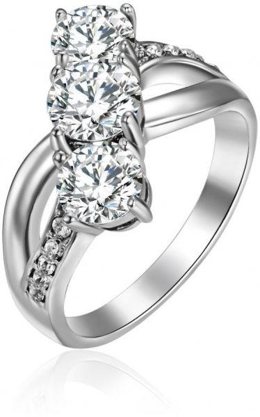 Mestige Women s Crystal Past Present Future Ring with Crystals From ... 6fa918012a74