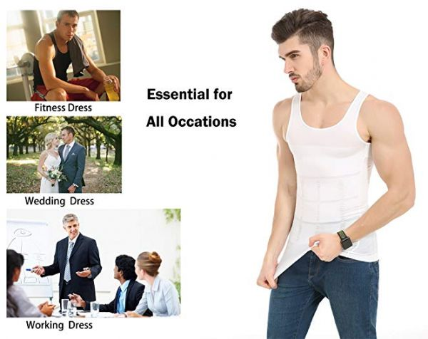 73458faec5 Mens Slimming Body Shaper Undershirt Vest Shirt Abs Abdomen Shaperware  Bodywear Vest Shirt Tank Top Compression Shirt Shapewear For Men