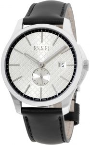 2d338b4bc95 Buy gucci g timeless silver dial mens leather watch ya1264027 ...