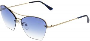 5b455c1a3ea5 Tom Ford Women s Annabel FT0507-28W-58 Gold Semi-Rimless Sunglasses