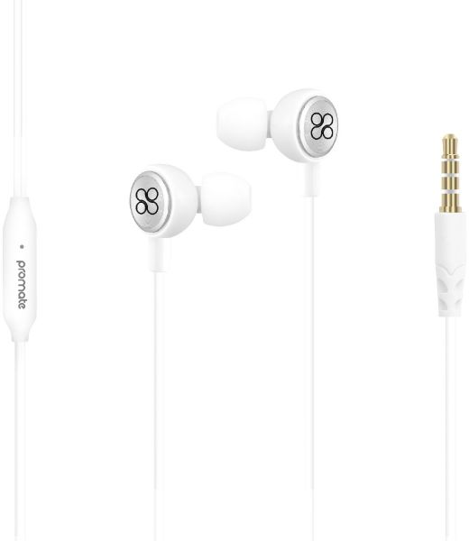 Promate Earphone With Mic For Iphone X Universal 3 5mm Stereo