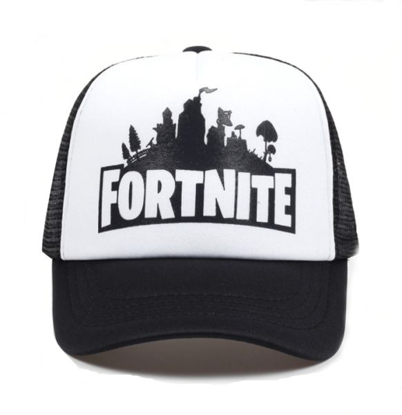 White New Fashion fortnite Printed Baseball Cap Cotton Mesh Hat Sun Cap  Adjustable Snapback Hat For Unisex d95f5729a963