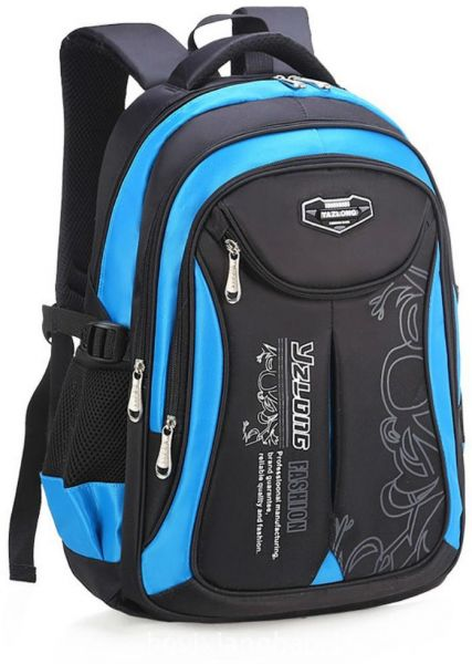 Waterproof Shoulder Canvas Backpack Bag Kids School Students Travel Bag  Small Size Black Blue  be996ade5910b