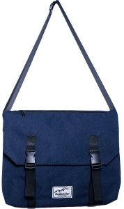 Florsheim Washed Canvas 16oz Messenger Bag Shoulder Bag