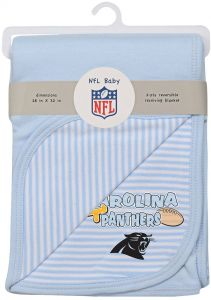 NFL By Outerstuff Newborn Blanket Carolina Panthers Blue 1 Size