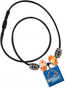 NCAA Boise State Broncos Life Tiles Necklace with Beads