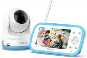 f79e4213a9360 TENKER Digital Sound Activated Video Record Baby Monitor with 4.3-Inch  Color LCD Screen