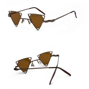 4a81ca6753 Women Men Steampunk Fashion Vintage Metal Sunglasses Beach Versacey Outdoor  Punk Triangle Polarized UV400 Protection Sunglasses