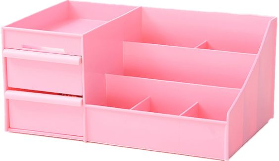 Awesome High Capacity Plastic Desk Organizer With Stackable And Extra Deep Drawers Pink Desktop Storage Box Holder For Cosmetic Brushes Office Stationery Download Free Architecture Designs Estepponolmadebymaigaardcom