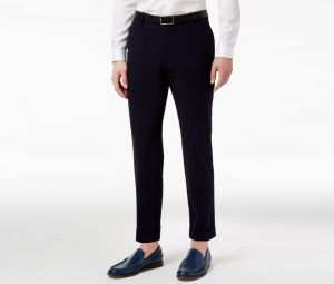 9d5dab2748e Inc International Concepts Mens Seersucker Slim-Fit Cropped Pants Navy