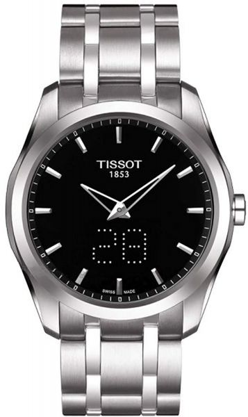 14035590884 Tissot Couturier Men s Black Dial Stainless Steel Band Watch -  T0354461105101. by Tissot